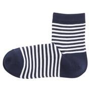 棉混合脚直角 条纹图案短袜(女士)