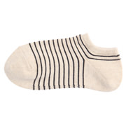 棉混合脚直角 条纹运动船袜(女士)