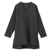女式 羊毛纱织束腰长上衣