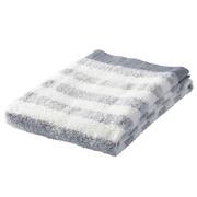 棉纱织起绒柔软浴巾/海军蓝条纹 70×140cm