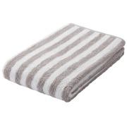 柔软面巾 34×85cm / 浅灰色条纹