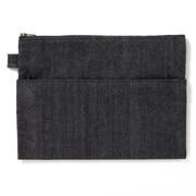 粗斜纹布小物袋/平型 約W25×H18cm
