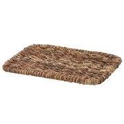 可重叠蕉麻皮制 长方形盒用盖 / 约长26×宽18×高2cm