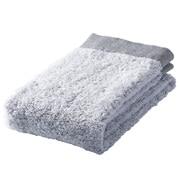 棉纱织起绒柔软面巾/海军蓝 34×85cm
