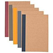 植林木纸 笔记本/5册组 A5/30张/6mm横格/侧封5色
