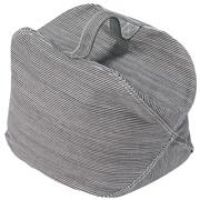 棉胡桃木条纹软管填充坐垫 約28×28×28cm