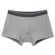 棉混弹力前封口低腰平角裤