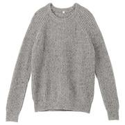 再生羊毛混绫纹编织毛衣