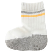 合脚直角弹力条纹罗纹袜(婴儿)