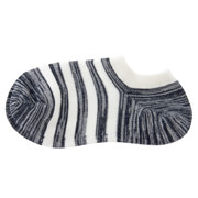 棉混合脚直角 宽条纹运动船袜(女士 可选)