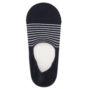 脚跟带防滑_高针距条纹隐形船袜(女士_可选)