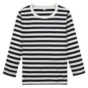 日常儿童服棉条纹长袖T恤(孩童)