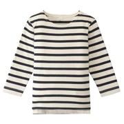 柔软粗纱棉长袖T恤(婴儿)
