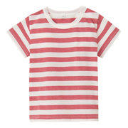 日常儿童服棉条纹短袖T恤(婴儿)