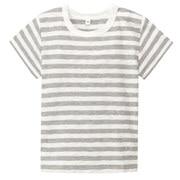 日常儿童服棉竹节条纹短袖T恤(婴儿)