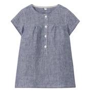法国亚麻水洗短袖束腰长上衣(婴儿)