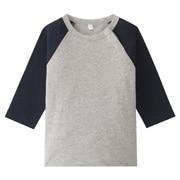日常儿童服棉拼接色八分袖T恤(婴儿)