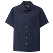 法国亚麻水洗 短袖衬衫