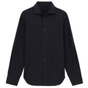 棉平纹定型半宽领衬衫