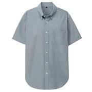 棉钱布雷 定型纽扣领短袖衬衫