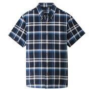 牛津棉格子 纽扣领短袖衬衫