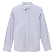 棉泡泡纱 纽扣领衬衫