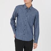 棉靛蓝染圆点衬衫