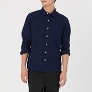 棉靛蓝染海力蒙衬衫