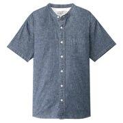 棉钱布雷 立领短袖衬衫