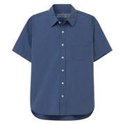 棉水洗 平纹短袖衬衫