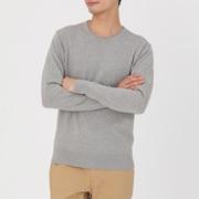 棉不均匀染色圆领毛衣