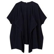 棉莫代尔平针编织宽版披肩开衫