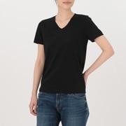 棉V领短袖T恤