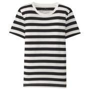 棉圆领短袖T恤(条纹)