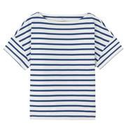棉 一字领短袖宽版T恤