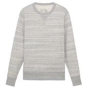 粗细不均棉线加捻麻纹毛圈运动衫