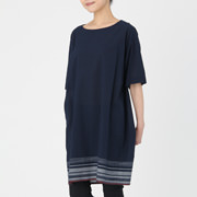 棉短袖连衣裙