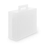 聚丙烯 带手柄文件盒  约10×32×28.5cm