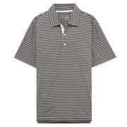 粗细不均棉线条纹POLO衫