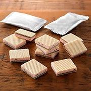 草莓奶油双层夹心威化饼干_