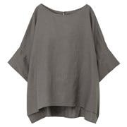 法国亚麻水洗_短袖罩衫
