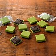 宇治抹茶巧克力可可味饼干