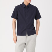 棉平织_短袖衬衫