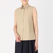 棉平纹_无袖衬衫
