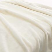 特厚腈纶混 毛毯 D/180×200cm 象牙色