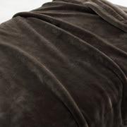 特厚腈纶混 毛毯 D/180×200cm 浅棕色