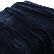 保暖纤维 厚毛毯  S・140×200cm 海军蓝