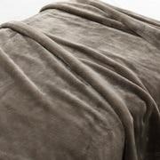 保暖纤维 厚毛毯  D・180×200cm 米色