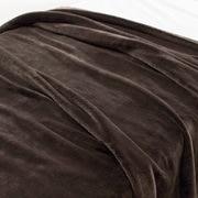 保暖纤维 厚毛毯  D・180×200cm 棕色