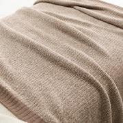 绳绒线 织毛毯  S・140×200cm 米色
